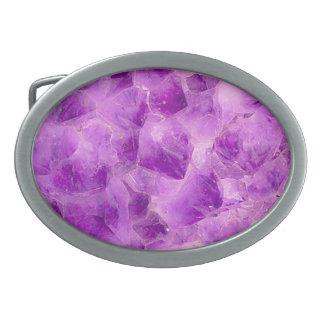 Teste padrão da pedra de gema, ametista roxa
