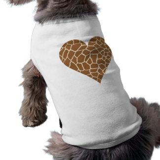 Teste padrão da pele, cores do girafa camisa sem mangas para cachorro