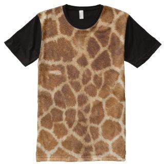 Teste padrão da pele do girafa camisetas com impressão frontal completa