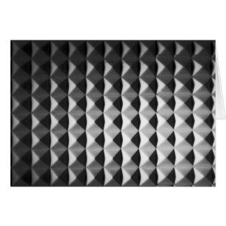 Teste padrão da pirâmide cartão comemorativo