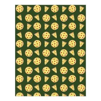Teste padrão da pizza da verde floresta panfletos