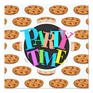 Teste padrão da pizza de Pepperoni; Comida Convites Personalizados
