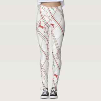 Teste padrão da rena leggings