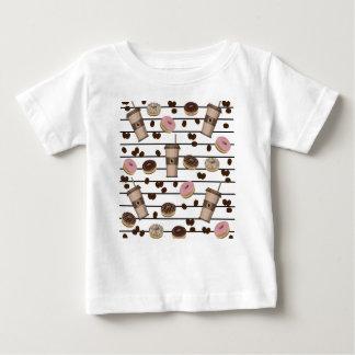 Teste padrão da ruptura de café camiseta para bebê