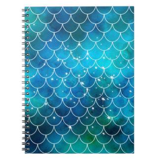 Teste padrão da sereia caderno espiral