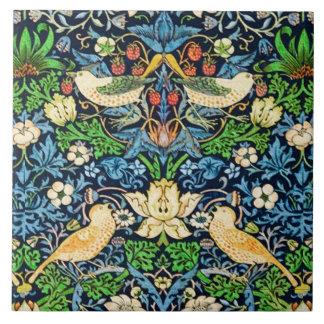 Teste padrão da tapeçaria do pássaro e da flor de