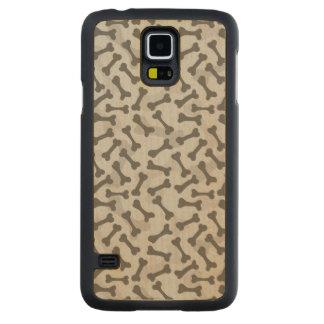 Teste padrão da textura do osso Greyscale Capa Slim De Bordo Para Galaxy S5