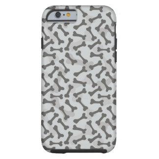 Teste padrão da textura do osso Greyscale Capa Tough Para iPhone 6