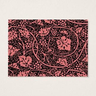 Teste padrão da uva do papel de parede floral do cartão de visitas