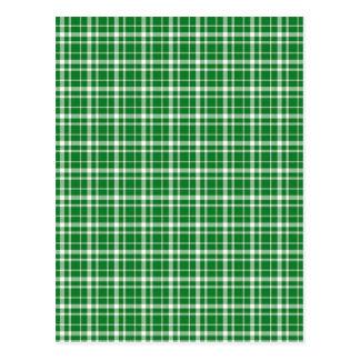 Teste padrão da xadrez do dia do St. Patricks Cartão Postal