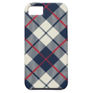 Teste padrão da xadrez dos azuis marinhos capa para iPhone 5