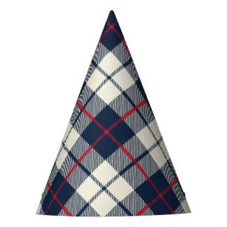 Teste padrão da xadrez dos azuis marinhos chapéu de festa