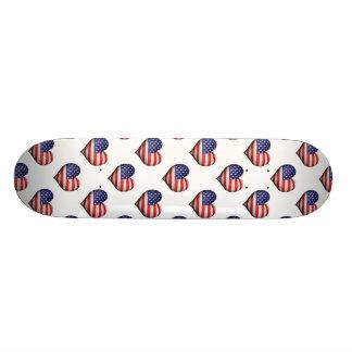 Teste padrão dado forma coração da bandeira do shape de skate 18,7cm