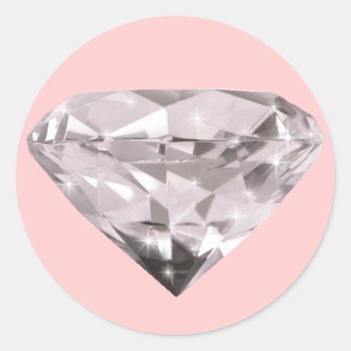 teste padrão dado forma dos diamantes adesivo em formato redondo