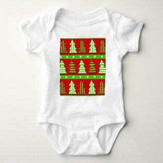 Teste padrão das árvores de Natal Body Para Bebê