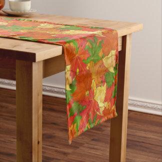 Teste padrão das folhas de outono caminho de mesa pequeno