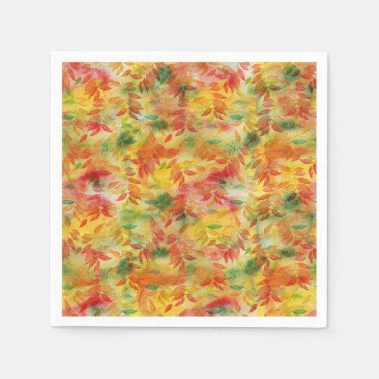 Teste padrão das folhas de outono guardanapo de papel