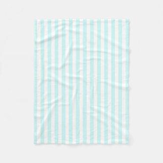 Teste padrão das listras das cores Pastel dos Cobertor De Lã