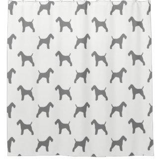 Teste padrão das silhuetas do Fox Terrier do fio Cortina Para Chuveiro