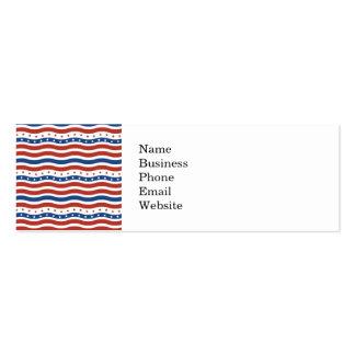 Teste padrão de bandeira dos Estados Unidos Cartão De Visita Skinny