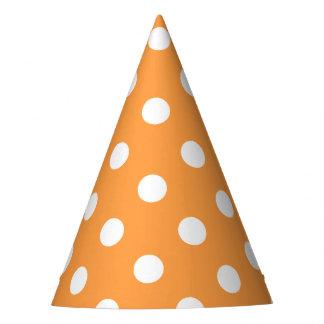 Teste padrão de bolinhas alaranjado chapéu de festa