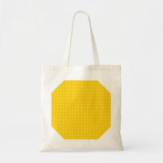 Teste padrão de bolinhas amarelo e branco bolsa para compras