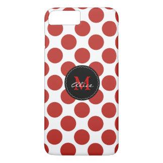 Teste padrão de bolinhas branco vermelho do capa iPhone 7 plus