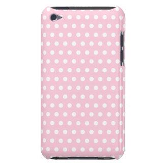 Teste padrão de bolinhas cor-de-rosa e branco capa para iPod touch