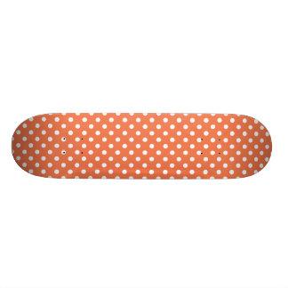 Teste padrão de bolinhas coral shape de skate 18,1cm