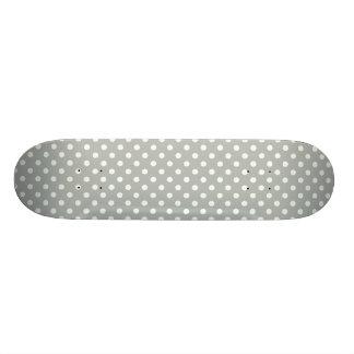 Teste padrão de bolinhas das cinzas de prata shape de skate 20cm