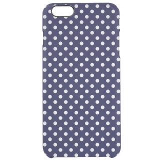 Teste padrão de bolinhas dos azuis marinhos e do capa para iPhone 6 plus clear