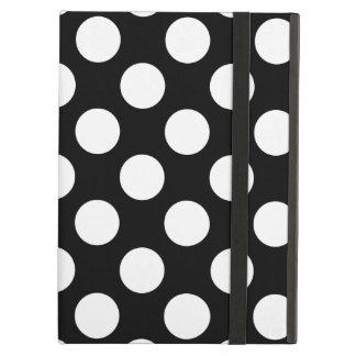 Teste padrão de bolinhas preto e branco à moda