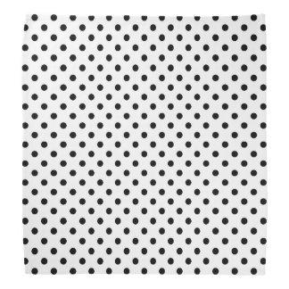 Teste padrão de bolinhas preto e branco faixas para cabeça