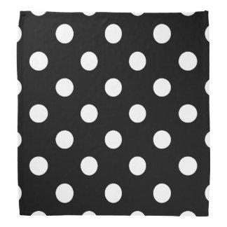 Teste padrão de bolinhas preto e branco panos para cabeça