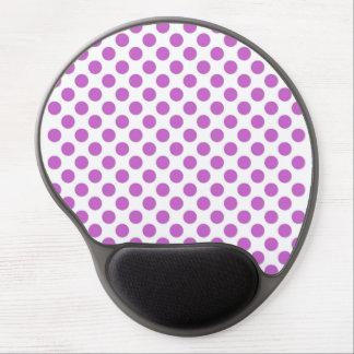 Teste padrão de bolinhas roxo mouse pad de gel