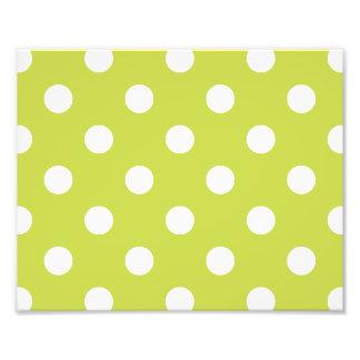 Teste padrão de bolinhas verde impressão de foto