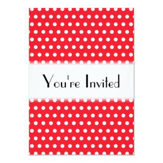 Teste padrão de bolinhas vermelho e branco. convites