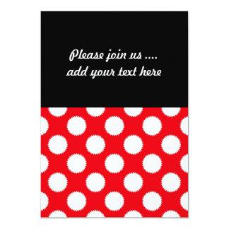 Teste padrão de bolinhas vermelho e branco convite 12.7 x 17.78cm