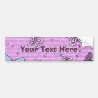 Teste padrão de borboleta cor-de-rosa e roxo adesivo para carro
