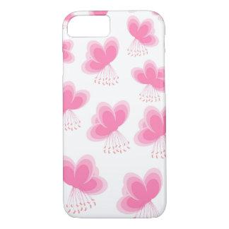 Teste padrão de borboleta da flor de cerejeira capa iPhone 7