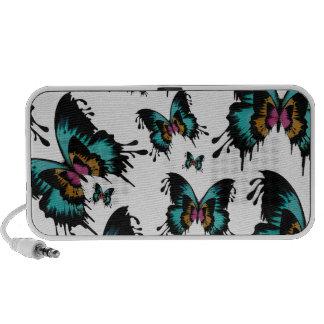 Teste padrão de borboleta de derretimento caixinhas de som para notebook