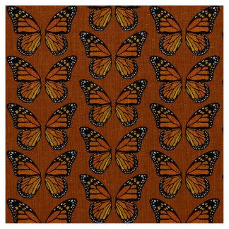Teste padrão de borboleta do monarca do tecido da