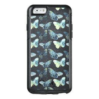 Teste padrão de borboletas azul verde artístico da