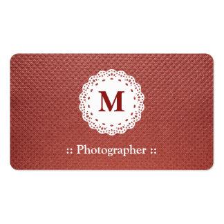 Teste padrão de Brown do monograma do laço do fotó Cartão De Visita