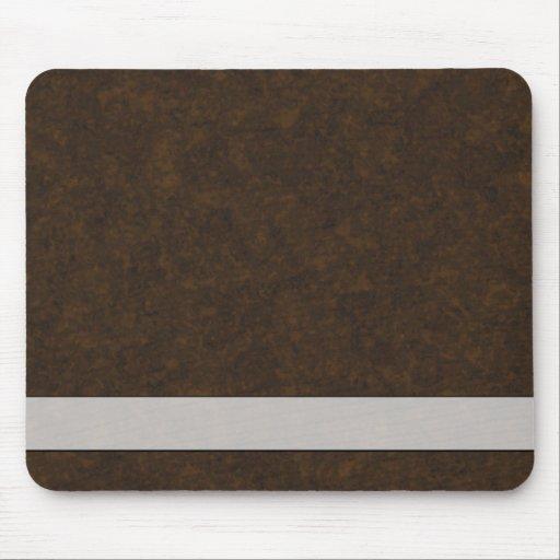 Teste padrão de Brown escuro Mouse Pad