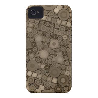 Teste padrão de Brown Polkadot Capa Para iPhone