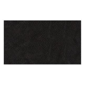 Teste padrão de couro preto do fundo cartão de visita