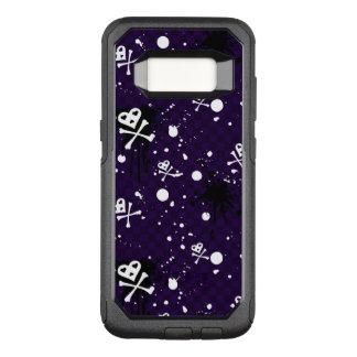 Teste padrão de Emo da cor escura com pintura Capa OtterBox Commuter Para Samsung Galaxy S8