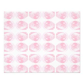 Teste padrão de escudos do rosa Pastel Flyer 11.43 X 14.22cm