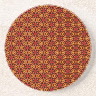 Teste padrão de estrela alaranjado porta copos de arenito